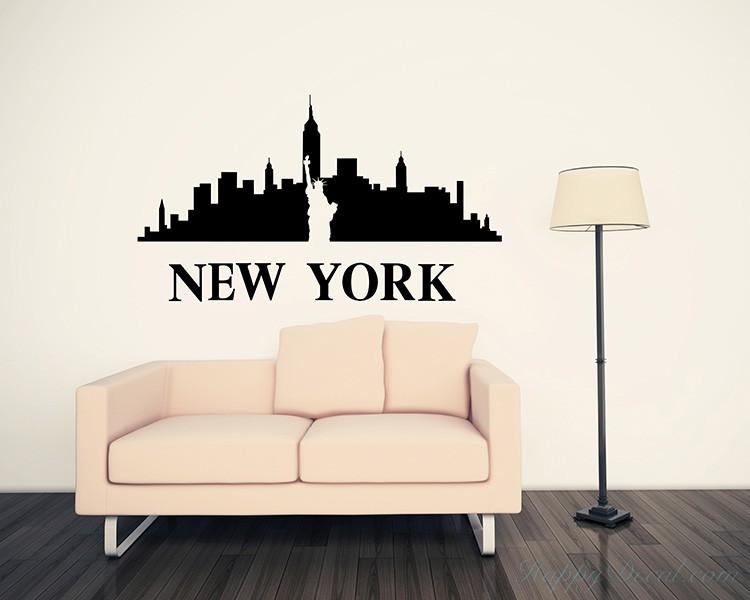 new york city silhouette vinyl decals modern wall art sticker