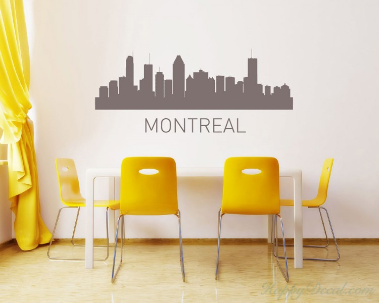 City of Canada Vinyl Decals Silhouette Modern Wall Art Sticker