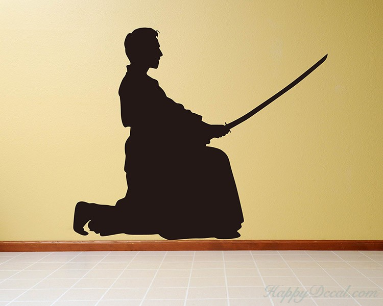 Chinese Knight Vinyl Decals Silhouette Modern Wall Art Sticker