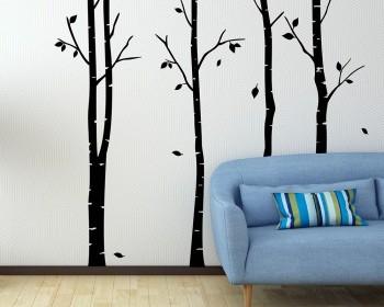 High Quality Birch Tree Wall Decal Vinyl Tree Art Stickers