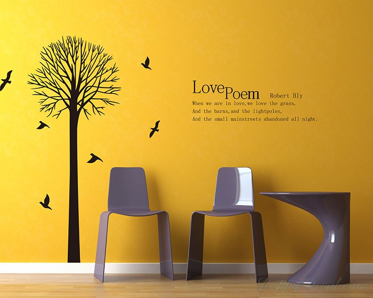 Tree With Love Quotes Wall Decal Vinyl Tree Art Stickers Adorable Love Quotes Wall Decals