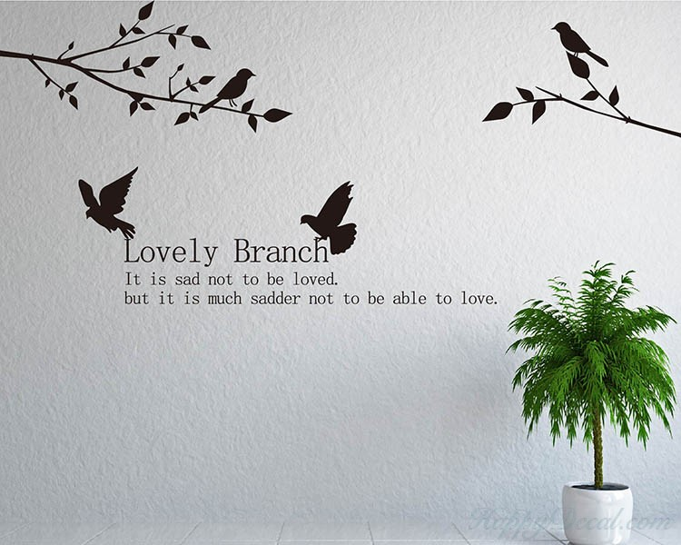 Love Branch with Birds Wall Decal