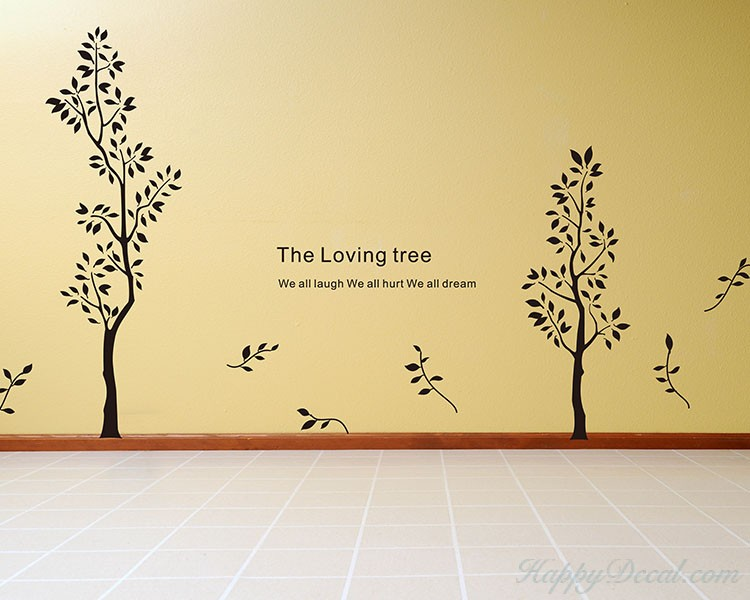 Loving Trees with Quote Wall Decal