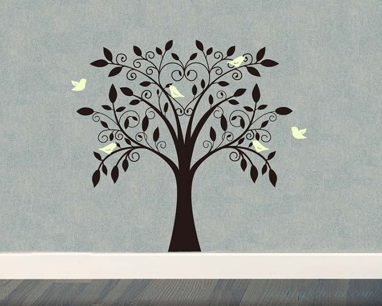 Tree and Birds Wall Decal Nursery Vinyl Tree Art Stickers