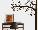 Tall Half Tree Wall Decal - Nursery Vinyl Tree Art Stickers