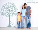 Linden Tree with Quotes Wall Decal Vinyl Tree Wall Art Stickers
