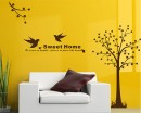 Tree with Bird Wall Decal Vinyl Tree Art Stickers