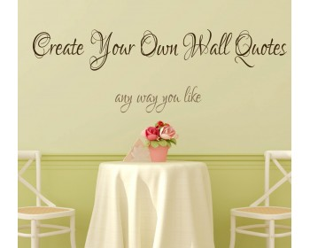 Create Your Own Wall Quotes - Personalized Words - Custom Wall Decal  sc 1 st  Wall Decals Premium Vinyl Wall Art Stickers for Home u0026 Business & Custom Wall Decals | Creat Your Own Family Initial Monogram Baby ...