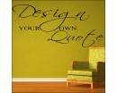 Create Your Own Wall Quotes - Personalized Words - Custom Wall Decal