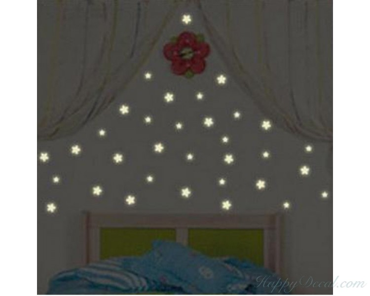 Star Glow In The Dark Wall Stickers Star Wall Decals For Nursery For Children Bedroom