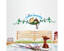Sweet Dreams Wall Stickers Monkey Sleeping on the Branch Wall Decals Monkey Wall Art Cute Lovely Home Decors For Children