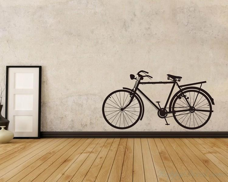 Bicycle Vinyl Decals Modern Wall Art Sticker