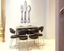 Knife and Fork Vinyl Decals Kitchen Wall Art Sticker