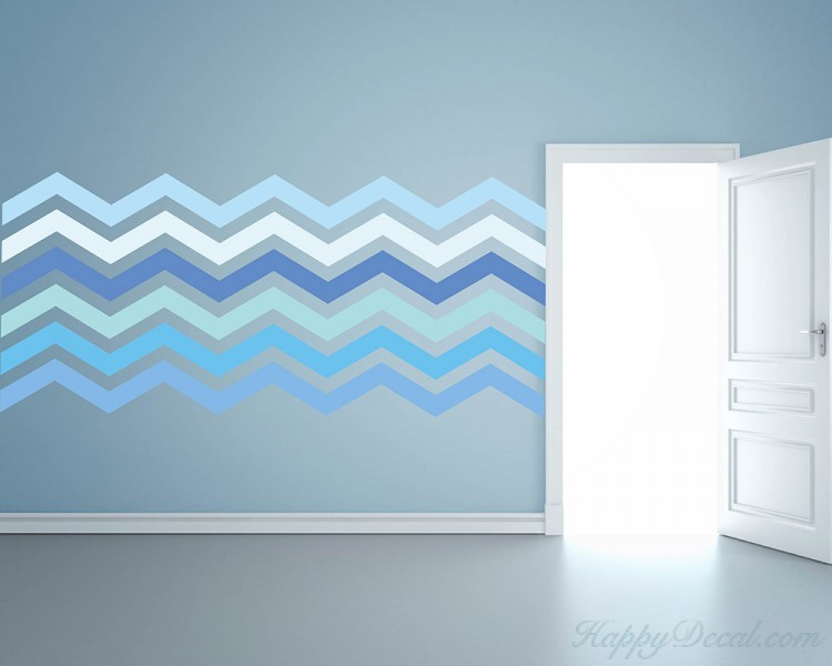 6 Chevron Stripes Wall Pattern Decal Modern Vinyl Art Stickers