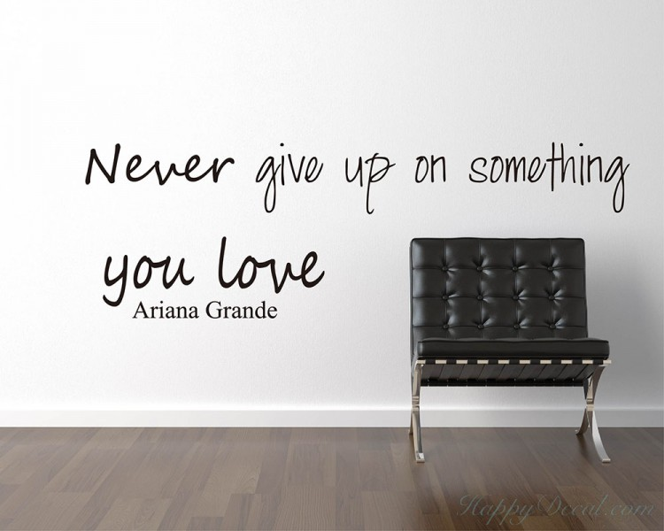 Never Give Up Quotes Wall Decal Motivational Vinyl Art