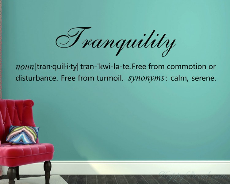 Tranquility Definition Quotes Wall Decal Definition Vinyl