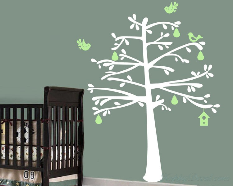 Fruit Tree Wall Decal Can Install Shelves