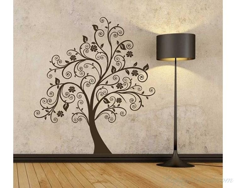 scroll tree wall decal vinyl tree wall art stickers scroll tree wall decal vinyl tree wall art stickers