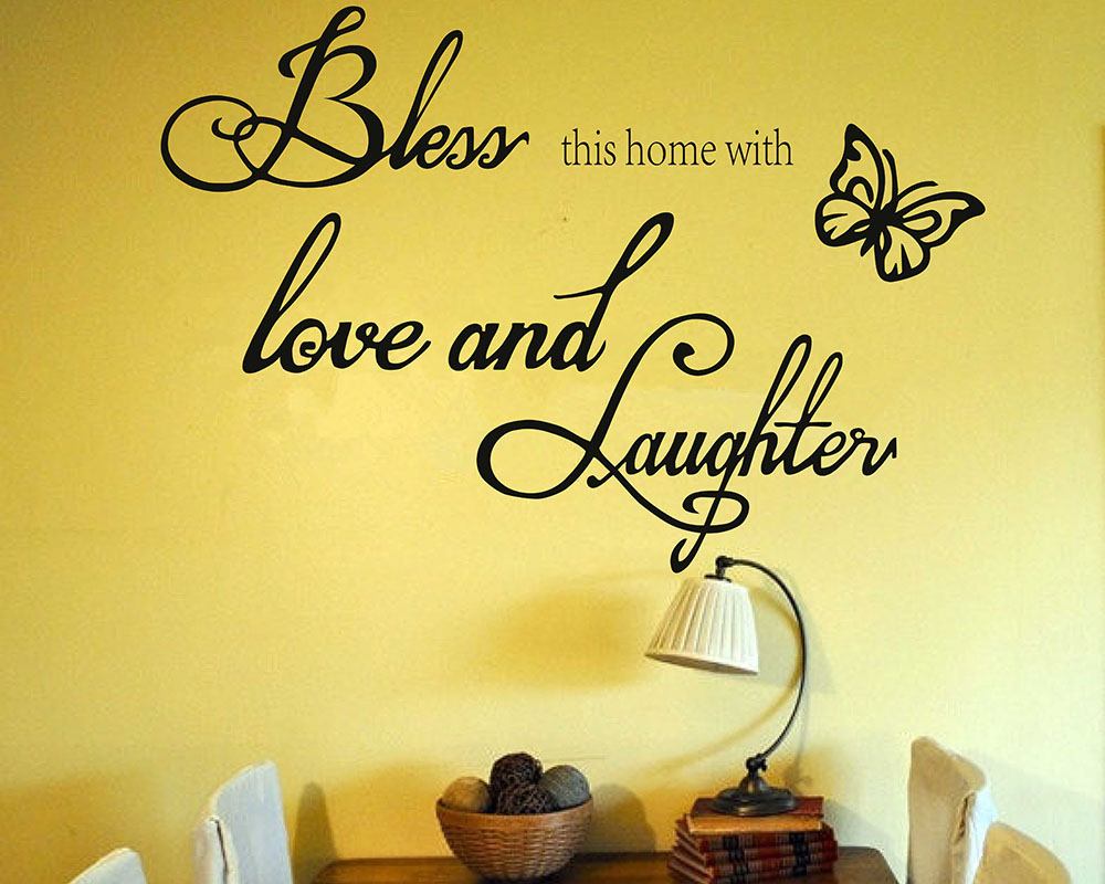 Bless this home with love and laughter - Wall Quote - Family Quote ...