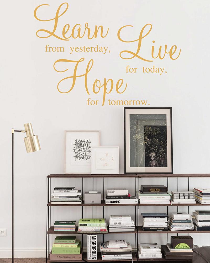 Tomorrow Definition Motivational Decal Wall Sticker
