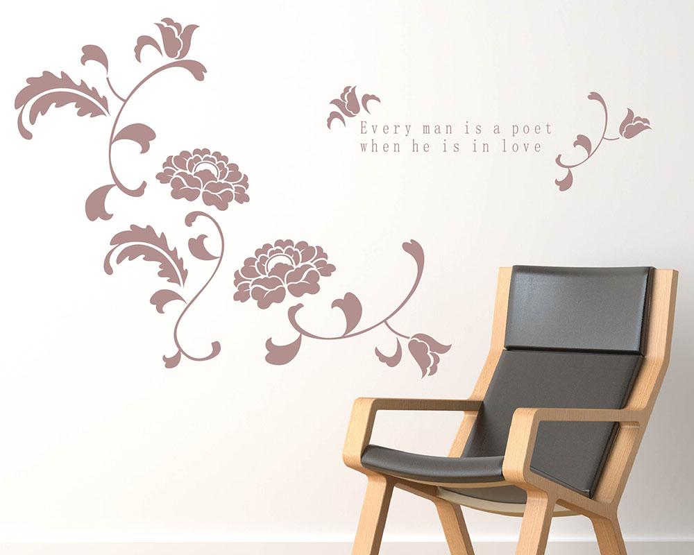 Beautiful flowers with love quotes vinyl art decal izmirmasajfo
