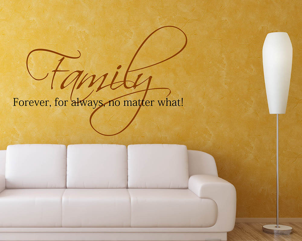 Family Forever Quotes Wall Decal Family Vinyl Art Stickers