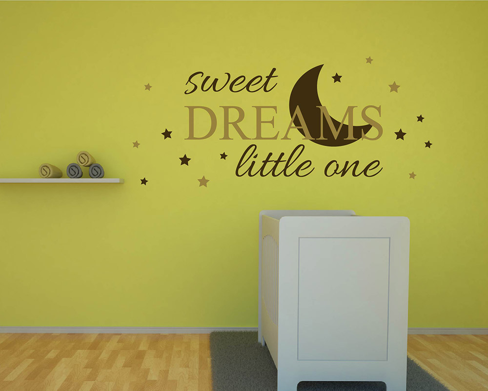 Sweet Dreams Quotes Wall Decal Nursery Vinyl Art Stickers