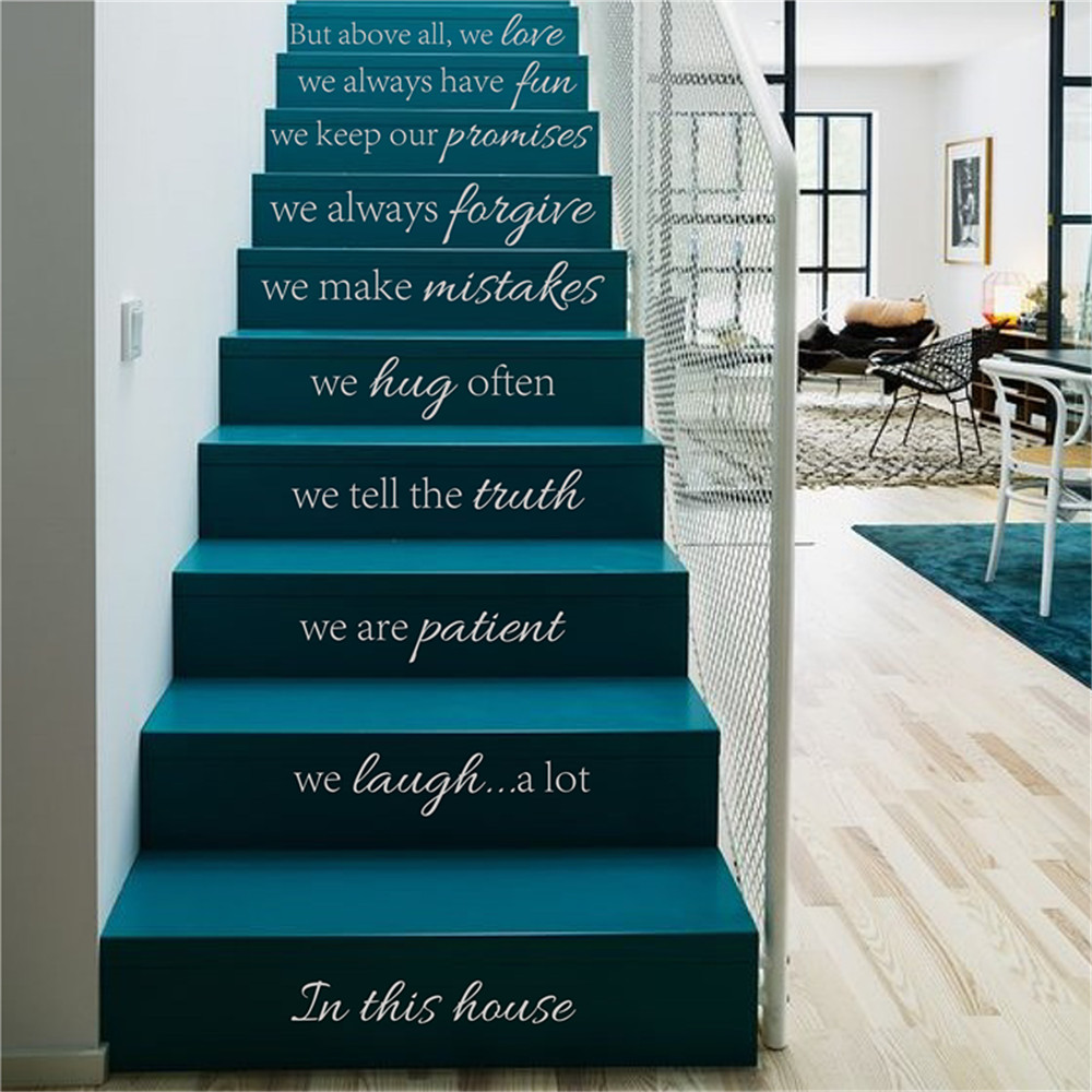 Inspirational Stairs Design: In This House We Do Quote Decals For