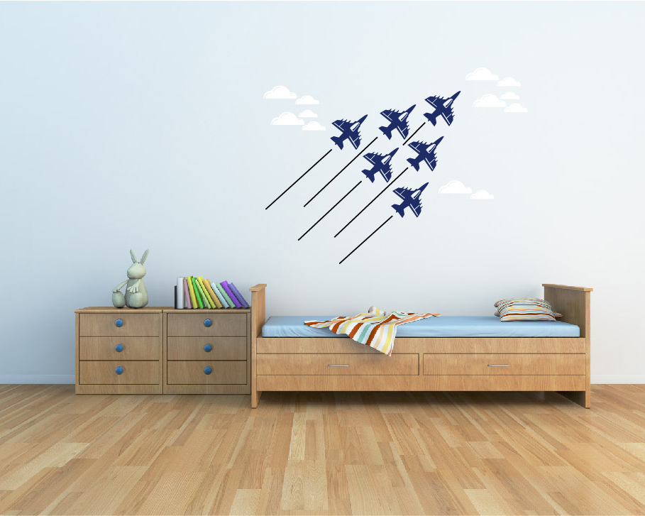 Airplane Wall Decals Vinyl Airplane Wall Art Stickers