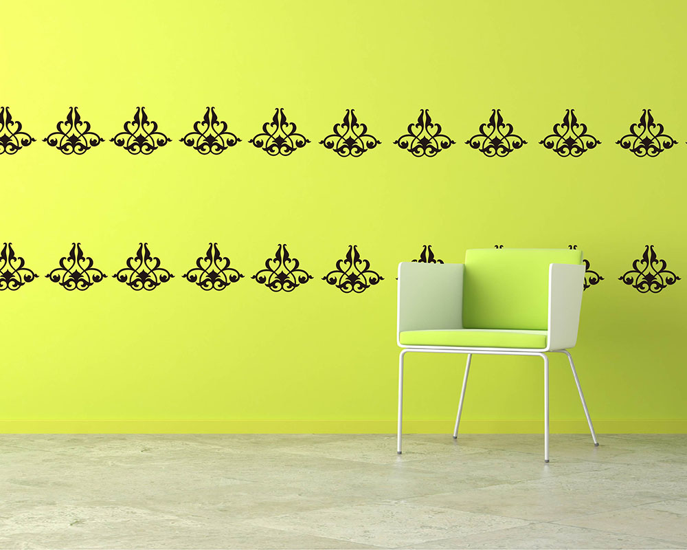 Damask Wall Decals - Vinyl Wall Art Stickers
