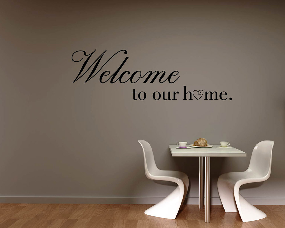 Welcome To Our Home Quotes Wall Decal Family Vinyl Art