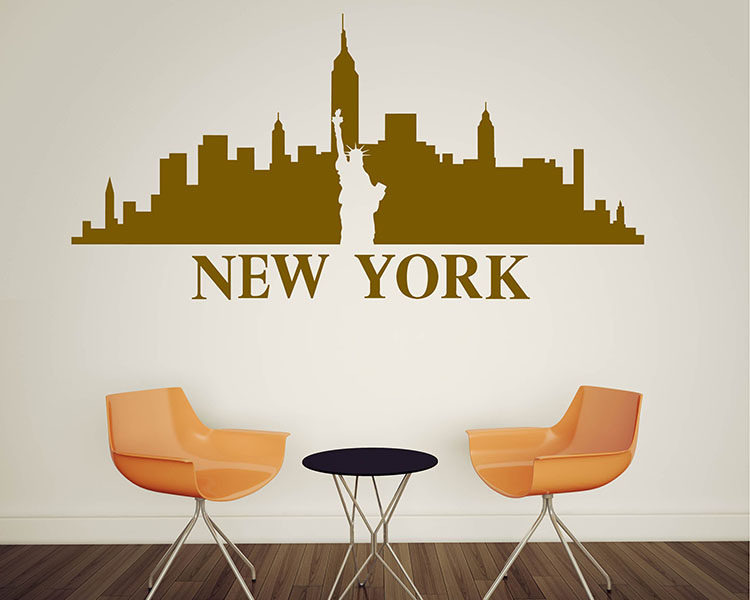 silhouette wall decals silhouette vinyl decals city landscape