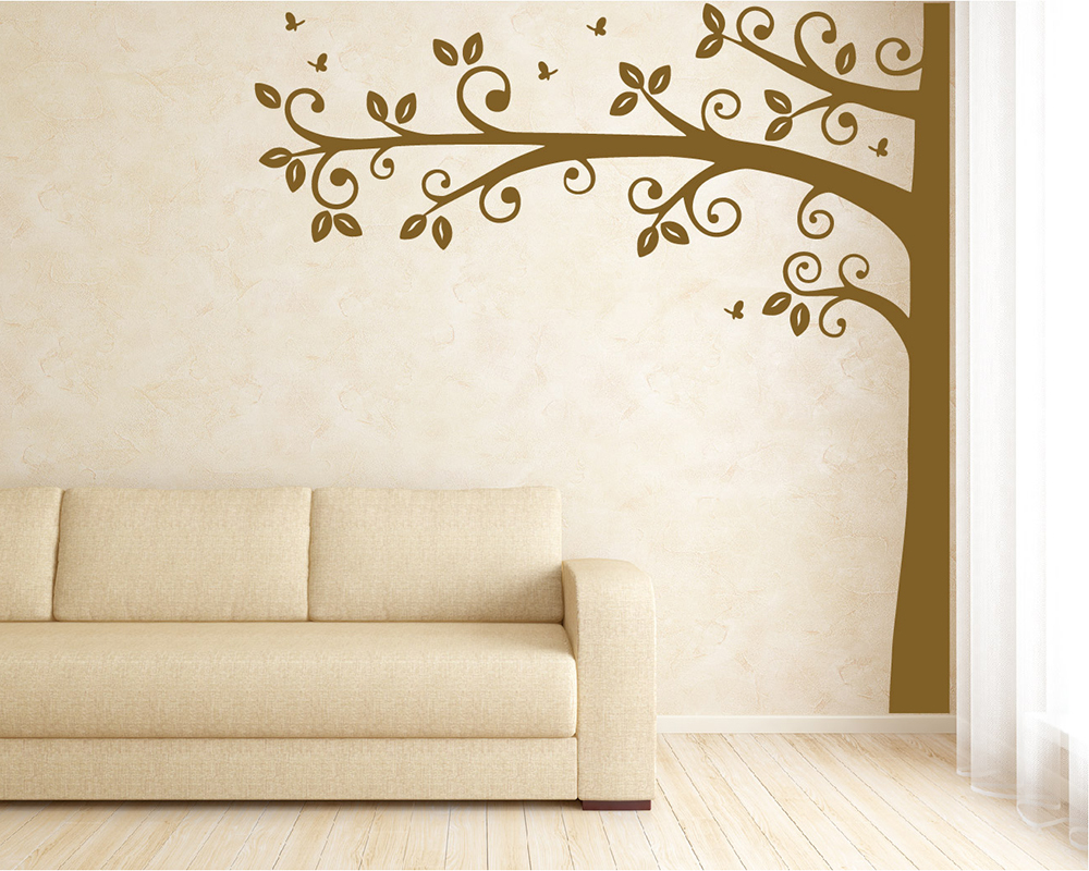 tall half tree wall decal nursery vinyl tree art stickers